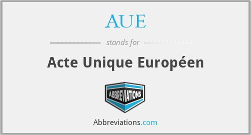 AUE - Acte Unique Européen