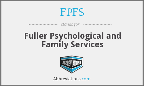 FPFS - Fuller Psychological and Family Services