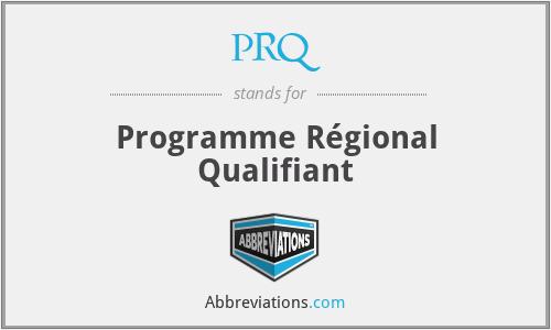 PRQ - Programme Régional Qualifiant
