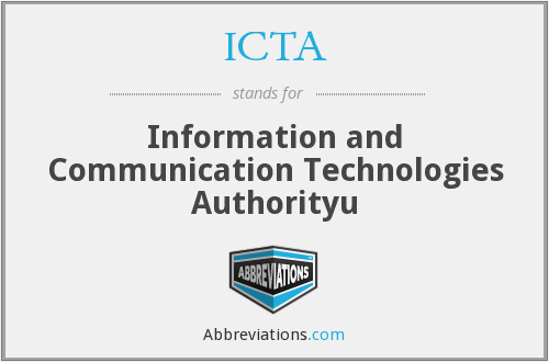 ICTA - Information and Communication Technologies Authorityu