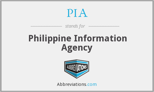PIA - Philippine Information Agency