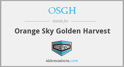 OSGH - Orange Sky Golden Harvest