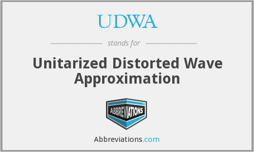 What does UDWA stand for?