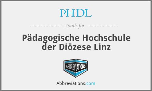 PHDL - Pädagogische Hochschule der Diözese Linz