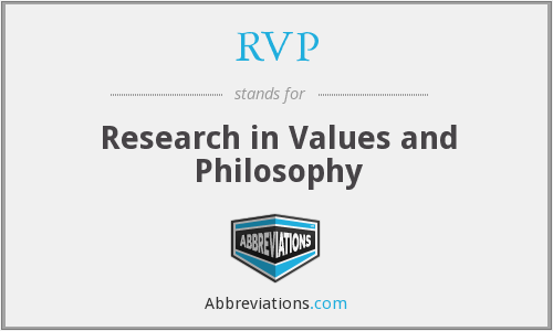 RVP - Research in Values and Philosophy
