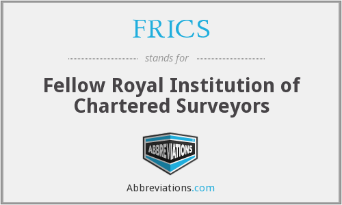 What does FRICS stand for?
