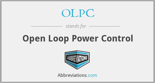 OLPC - Open Loop Power Control