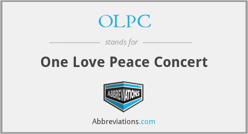 OLPC - One Love Peace Concert