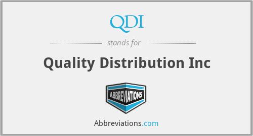 QDI - Quality Distribution Inc