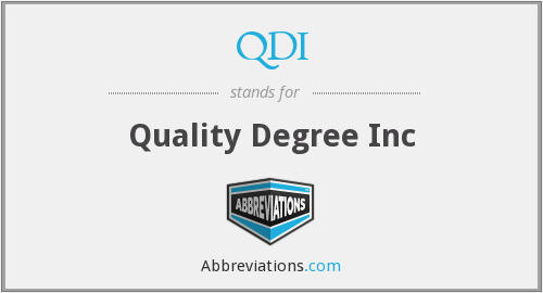 QDI - Quality Degree Inc