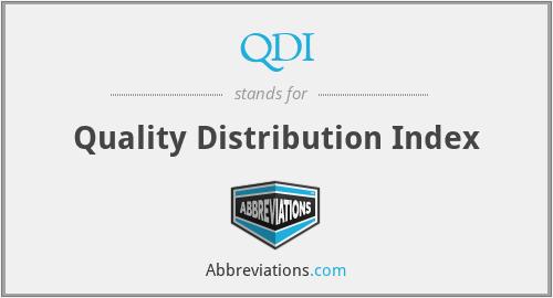 QDI - Quality Distribution Index
