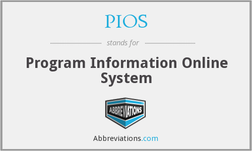 PIOS - Program Information Online System