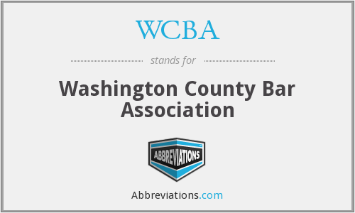 WCBA - Washington County Bar Association