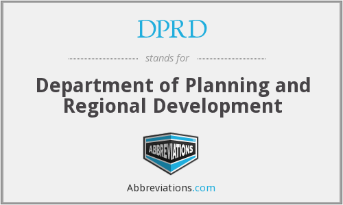 DPRD - Department of Planning and Regional Development