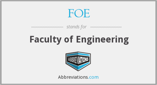 FOE - Faculty of Engineering