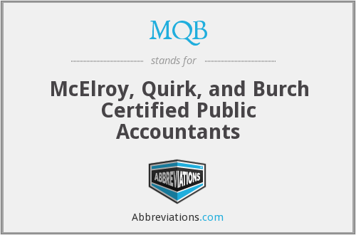 MQB - McElroy, Quirk, and Burch Certified Public Accountants