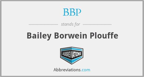 BBP - Bailey Borwein Plouffe