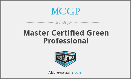 What does MCGP stand for?