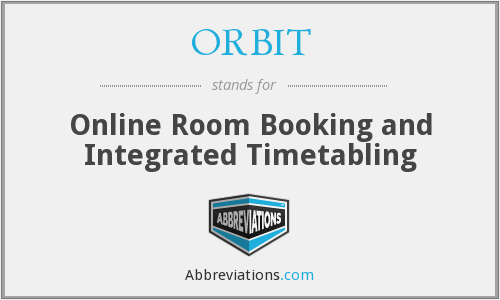 ORBIT - Online Room Booking and Integrated Timetabling