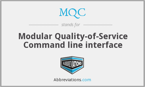 MQC - Modular Quality-of-Service Command line interface