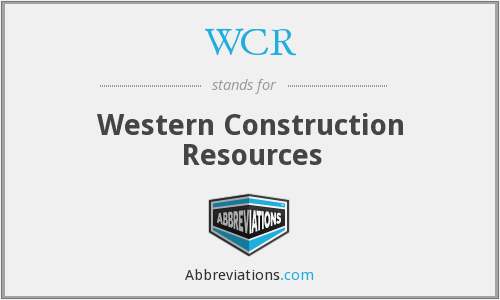 WCR - Western Construction Resources