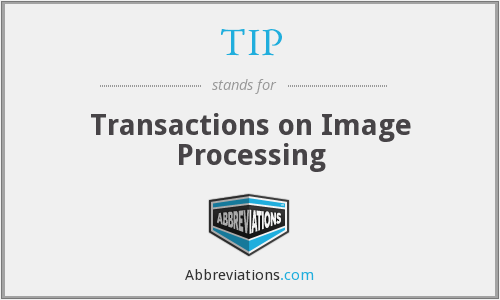 TIP - Transactions on Image Processing
