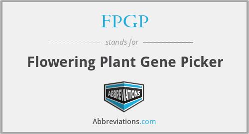FPGP - Flowering Plant Gene Picker