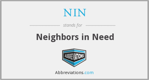 NIN - Neighbors in Need
