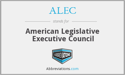 What does ALEC stand for?