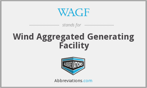 WAGF - Wind Aggregated Generating Facility