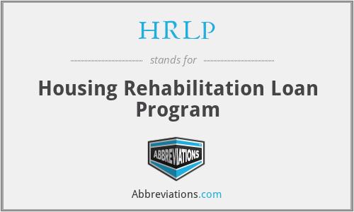 HRLP - Housing Rehabilitation Loan Program