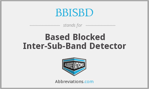 What does BBISBD stand for?