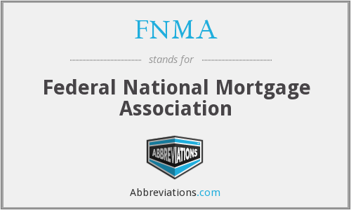 What does FNMA stand for?
