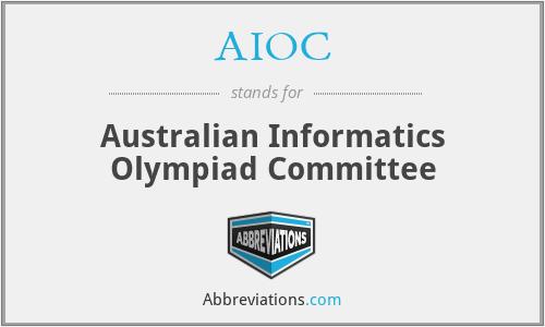 AIOC - Australian Informatics Olympiad Committee