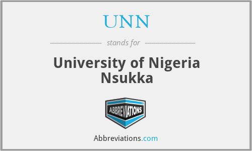 UNN - University of Nigeria Nsukka