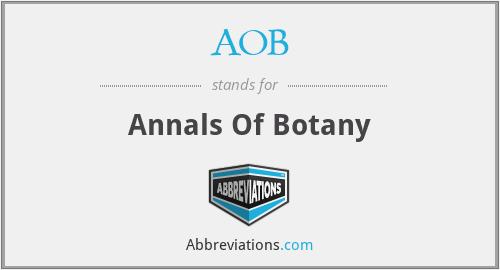 AOB - Annals Of Botany