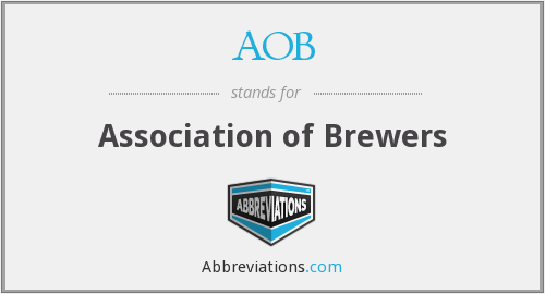 AOB - Association of Brewers