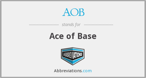 AOB - Ace of Base