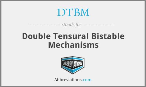 DTBM - Double Tensural Bistable Mechanisms