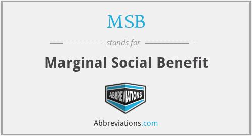 MSB - Marginal Social Benefit
