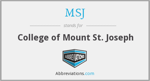 What does MSJ stand for?