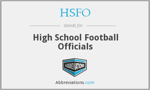 HSFO - High School Football Officials