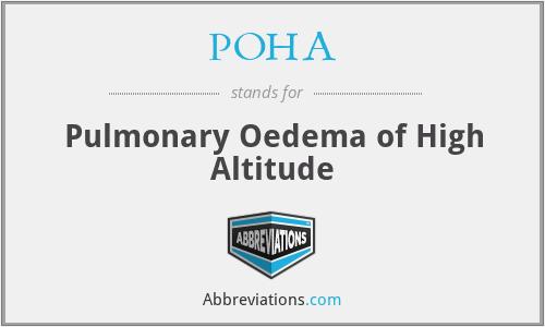 POHA - Pulmonary Oedema of High Altitude