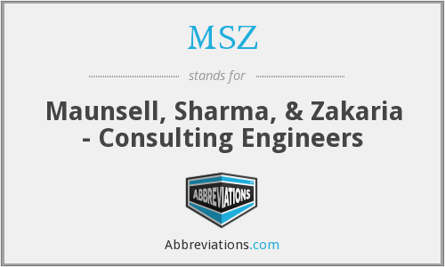 MSZ - Maunsell, Sharma, & Zakaria - Consulting Engineers
