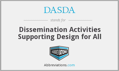 DASDA - Dissemination Activities Supporting Design for All