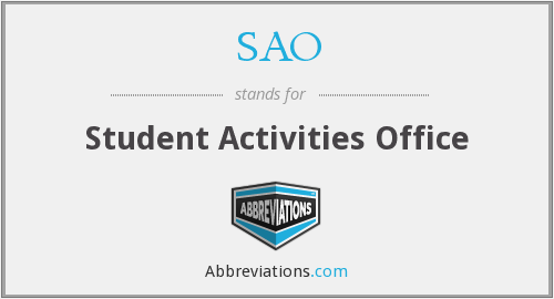 SAO - Student Activities Office