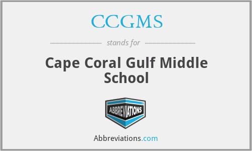CCGMS - Cape Coral Gulf Middle School