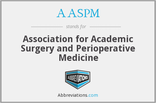 What does AASPM stand for?