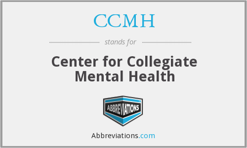 What does CCMH stand for?