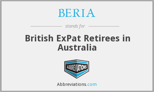 BERIA - British ExPat Retirees in Australia